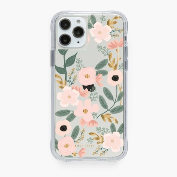 Rifle Paper Company Wildflowers Clear iPhone Case